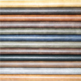 Leatherette sintetizado arrugado grabado de la PU de los accesorios de la materia textil para los zapatos
