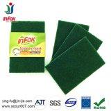 Vaschetta abrasiva di nylon che pulisce il rilievo di raschiatura verde