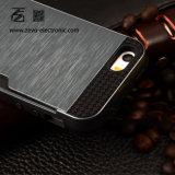 AppleのiPhoneのための卸し売り携帯電話の金属ケイ素のプラスチックケース7 6s