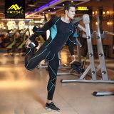 Mens 운동복 Legging 긴 소매 셔츠 및 한 벌
