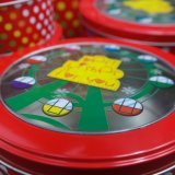 Brillante caja de empaquetado rojo / caja del metal / Actual Rectángulo para los Alimentos (R009-V1)