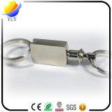 Support promotionnel de trousseau de clés en métal d'agrafe de traction de don sur la taille des pantalons