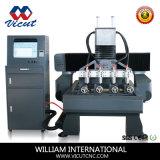 Hohe Leistungsfähigkeit hölzerne CNC-Fräser-Maschine mit 6 Rotaries der Funktion (VCT-3512R-6H)