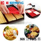 La FDA de la Chine LFGB Waffle moulage fait sur commande de gâteau de traitement au four de silicones de moulage de bruit