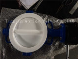Полным тип выровнянный тефлоном вафли клапан-бабочка (CBF04-TA01)
