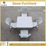 安い正方形の屋外の家具のプラスチックHDPEの折りたたみ式テーブル