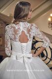 長い袖の花嫁の夜会服のレースのテュルのウェディングドレスDh20178