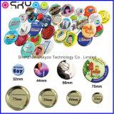 Modificar la divisa del botón para requisitos particulares del Pin del precio de fábrica de la insignia de la impresión