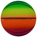 Qualitäts-Regenbogen-Basketball Kurbelgehäuse-Belüftung blasen Spielzeug-Kugel auf