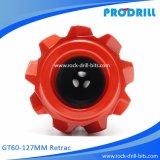 Продетые нитку Retrac биты кнопки Gt60-127 для верхнего Drilling молотка