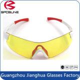 Lunettes de soleil de PC de sport de vélo de montagne de lentille de jaune de visibilité de l'usine HD de Guangzhou