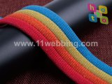 Webbing colorido do algodão do poliéster para acessórios do saco e de roupa
