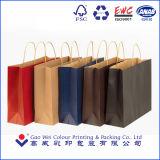 Les sacs en papier de papier plats réutilisés de Papier d'emballage de traitement de Brown ont estampé par la machine automatique de sac de papier