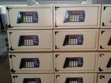 Casella sicura utilizzata di codice matrice per l'hotel