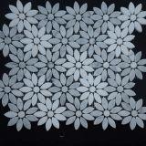 2017 지면을%s 최신 Deisgn Waterjet 모자이크 대리석 꽃