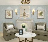 継ぎ目が無い現代簡単な浮彫りになる壁紙ファブリック寝室の居間