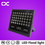100W iluminación de inundación ligera al aire libre negra de la lámpara del proyecto de la carrocería 10500lm
