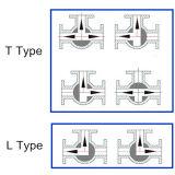 Vávula de bola de tres vías Ss304/Ss316 con el extremo de cuerda de rosca (Q14/Q15)