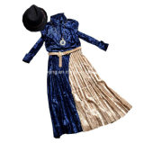 Платье цвета контраста `s женщин бархата