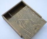 カスタムロゴの骨董品の木の写真ボックス型USBボックス