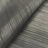 300d Horizontal&#160 ; Barrer le tissu métallique d'Oxford d'apparence pour des sacs/meubles