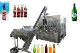Стеклянная бутылка с алюминиевой машиной завалки питья сока крышки