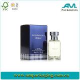 El perfume de lujo encajona el rectángulo del perfume de los diseños con la pieza inserta del satén