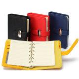 Caderno pessoal moderno do diário da tampa do couro do plutônio do planejador do organizador do projeto A7