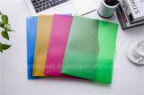 Dépliant de fichier transparent de couleur de deux poches, sac du fichier A4