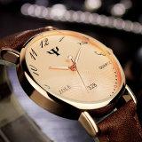 328의 형식 단순한 설계를 가진 가죽 날의 사면 석영 손목 시계