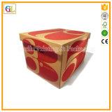 Caixa de empacotamento de papel da cor cheia de papel ondulado