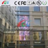 Pantalla de cristal transparente al aire libre del LED para la publicidad
