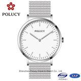 卸し売りジュネーブの水晶人の腕時計の方法金網ベルトの腕時計