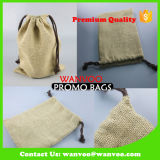 Bolso natural vendedor caliente de la tela de algodón de la lona del lazo del fabricante de China para la ropa