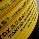 Manguito de jardín forzado del PVC de la rienda de la fibra de la pulgada del 1/2