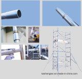 De mobiele Steiger van het Aluminium van de Breedte van het Systeem van de Toren Dubbele