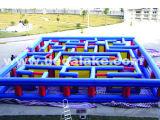 Labyrinthe gonflable de tissu d'Oxford, jeu gonflable de sports