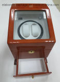 Caixa de relógio Bistratal do dobro do cacifo com a caixa de madeira da gaveta e do indicador