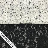 Tessuto del merletto del cotone di disegno del fiore per i vestiti delle donne