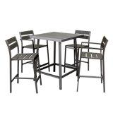 Da venda por atacado de alumínio moderna da tabela do lazer jogo de madeira plástico ao ar livre da cadeira da barra