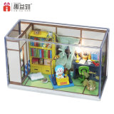 Modelo da casa do estilo de Japão mini com brinquedo da caixa