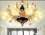 Colorfulf Glasgoldene Druckguss-Zink-Legierungs-Leuchter-Lichter