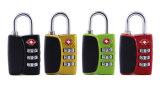 Legierungs-Kombinationsschloss-Arbeitsweg-Gepäck-Beutel-Code-Vorhängeschloß des Zink-Tsa12068