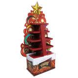 Étalage d'étage de carton de point d'achat pour des ornements de Noël