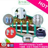 Rich Cheap Wood Grain PVC Plastic Steel Lawn Garden Fence com Stand Column Free