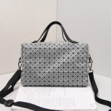 Grey Geometric Rhombic Folding Boston Handbag (A046)