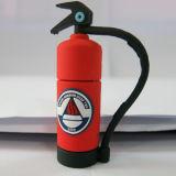 El mecanismo impulsor del flash del USB del extintor del PVC del regalo del departamento de bomberos puede ser la insignia modificada para requisitos particulares 256GB