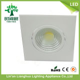 7W cuadrado LED COB Down luz Downlight LED