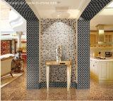 Cristal mezclado del mosaico de mármol del oro para el azulejo de suelo (FYSG016)