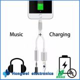 2 in 1 voor iPhone7&Plus aan 3.5mm Hoofdtelefoon Jack Adapter Charge USB Cable